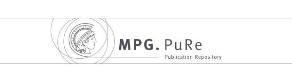 Publication repository PuRe: provides the published scientific output of the MPI of Biophysics and most of the institutes of the Max Planck Society