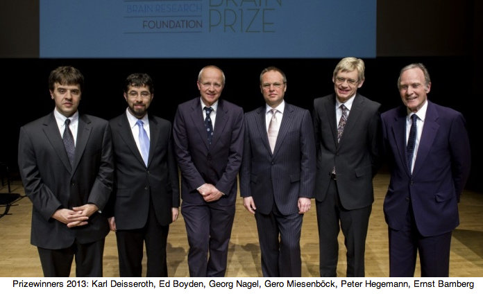 2013: The Brain Prize for Ernst Bamberg